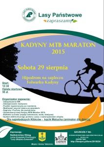 Plakat MTB Kadyny 2015